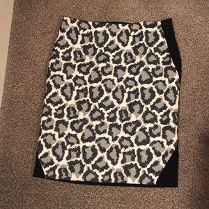 DVF leopard pencil skirt